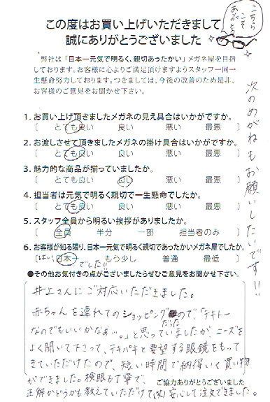 武蔵野市 眼鏡 口コミ 評判