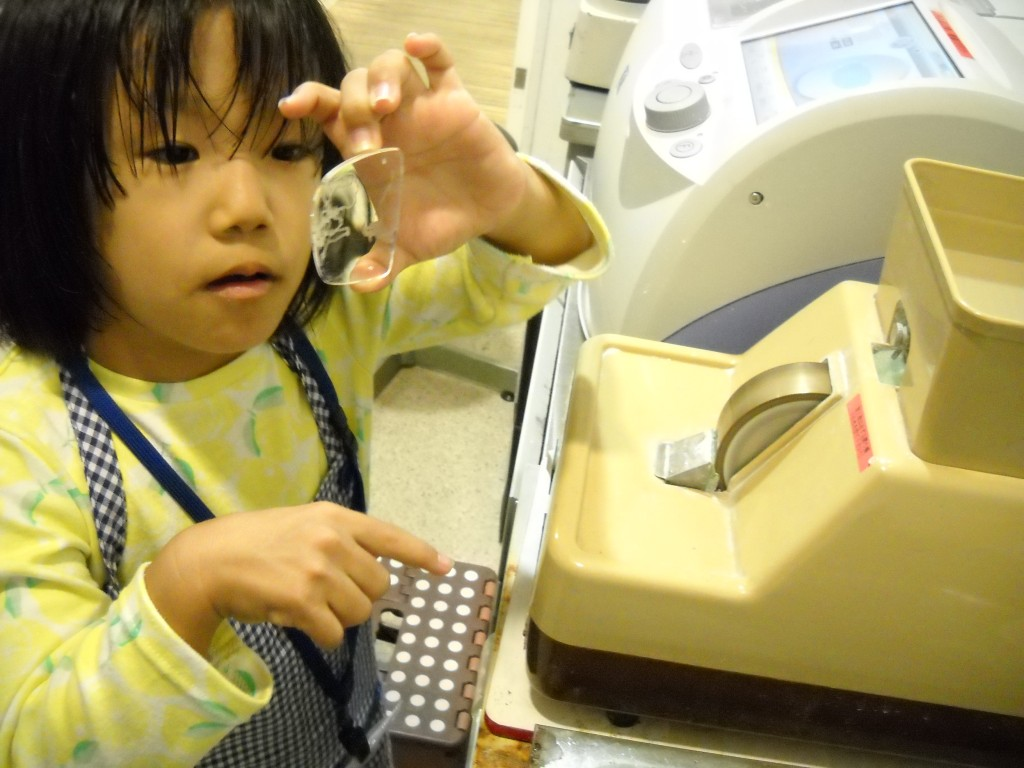 江戸川区 メガネ 子ども 女の子 キッザニア 職場体験 4