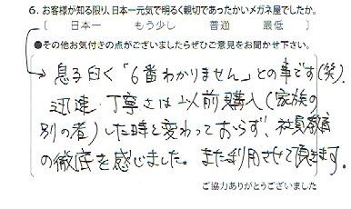 武蔵野市 メガネ 口コミ 評番