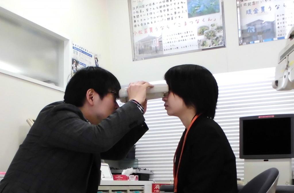東京都内 江戸川区 一之江 メガネ 両眼視検査 目が疲れる
