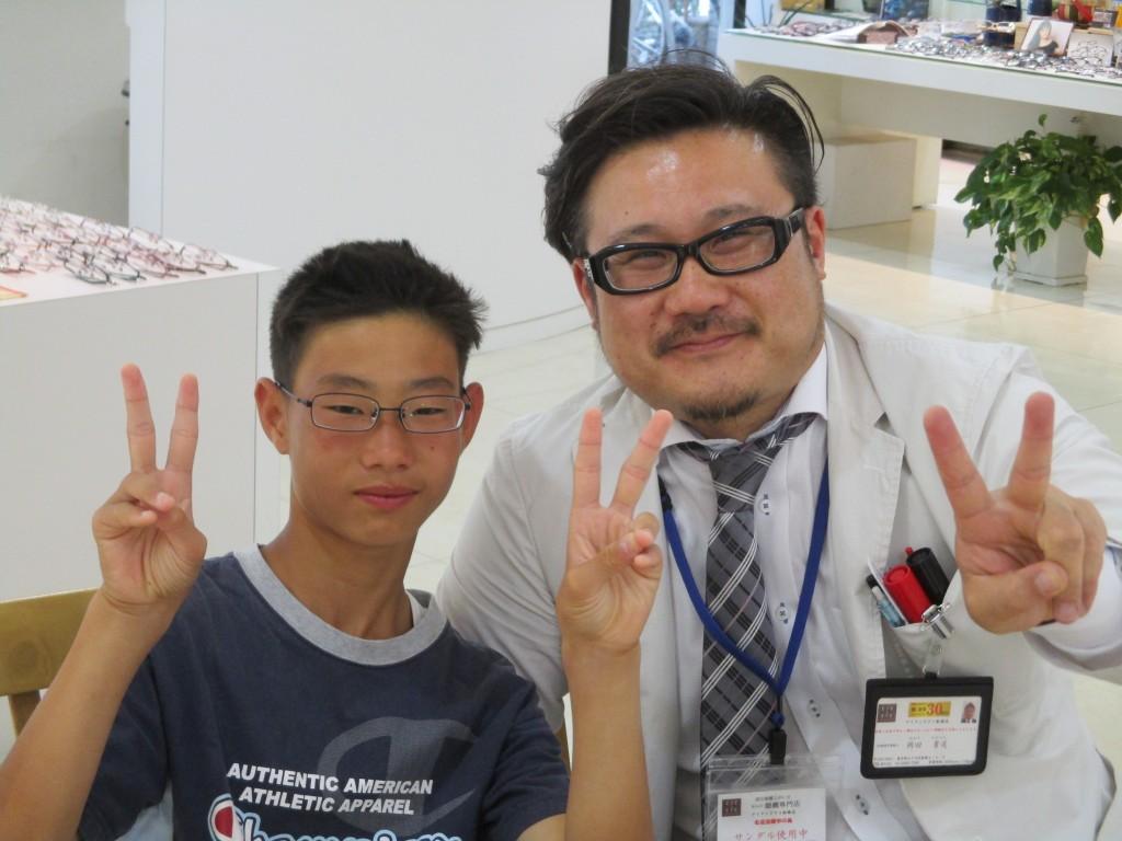 東京都内 メガネ こどもメガネ 両眼視機能 プリズム検査