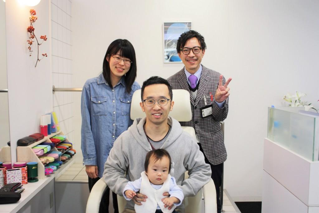 眼鏡 家族記念写真 ファミリー写真 江戸川