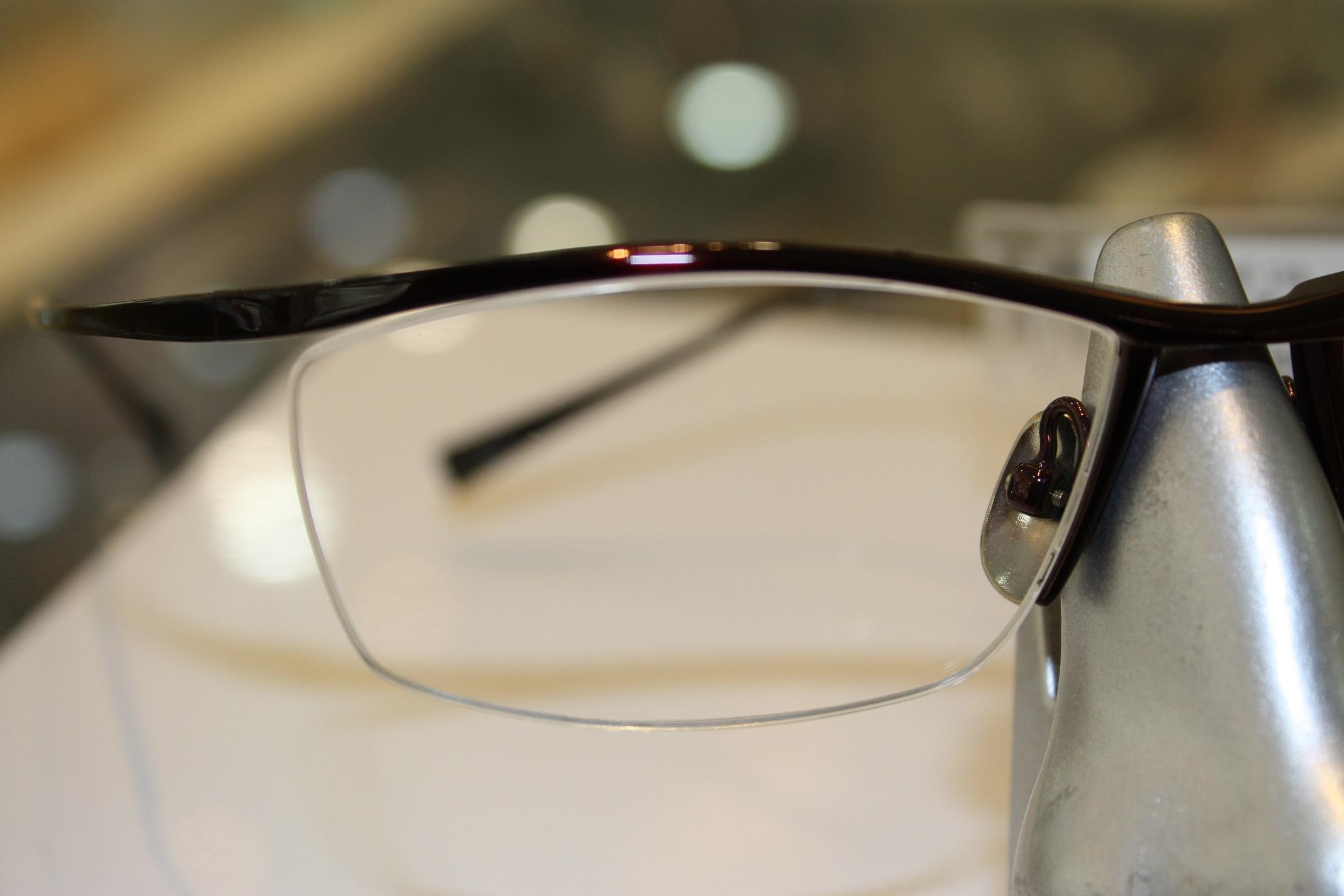 男性用メガネ シャープなメガネ フレーム 江戸川