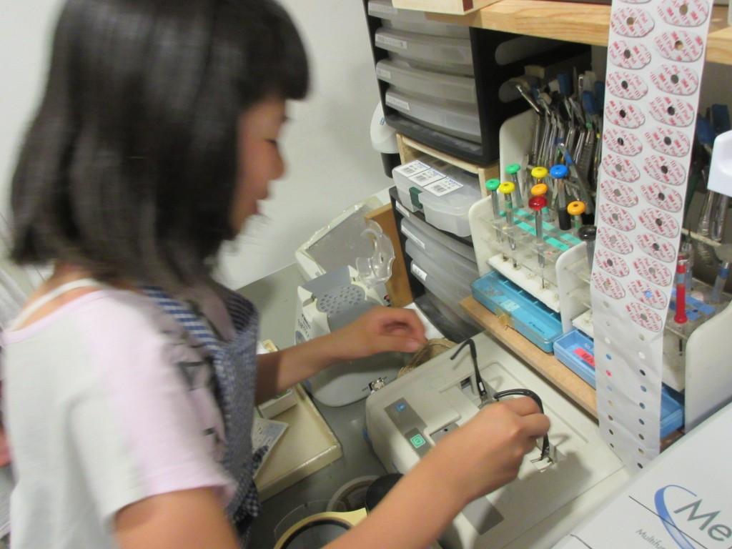 東京 都内 江戸川区 船堀 子供メガネ 弱視治療用 メガネ作り体験