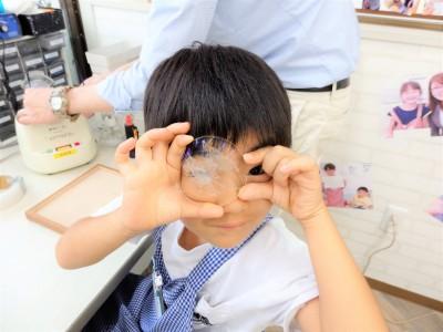 東京都内 江戸川区 瑞江 こどもメガネ 専門店 トマトグラッシーズ 眼鏡作り体験 遠視性乱視弱視治療用眼鏡