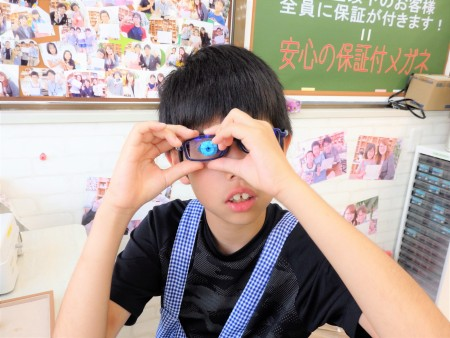 東京都内 こどもメガネ 専門店 眼鏡作り体験