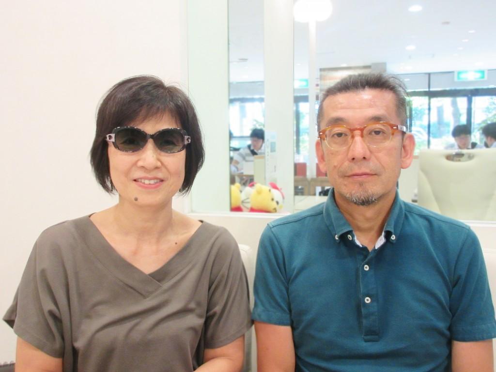 チョコサン シャルマン 度付きサングラス 両眼視機能検査 カラー診断 コンタクトレンズ