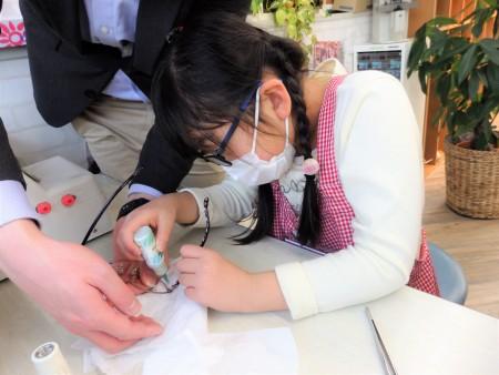 東京都内 こどもメガネ 子供眼鏡 専門店 弱視治療用眼鏡 セシルマクビー CMF-3003
