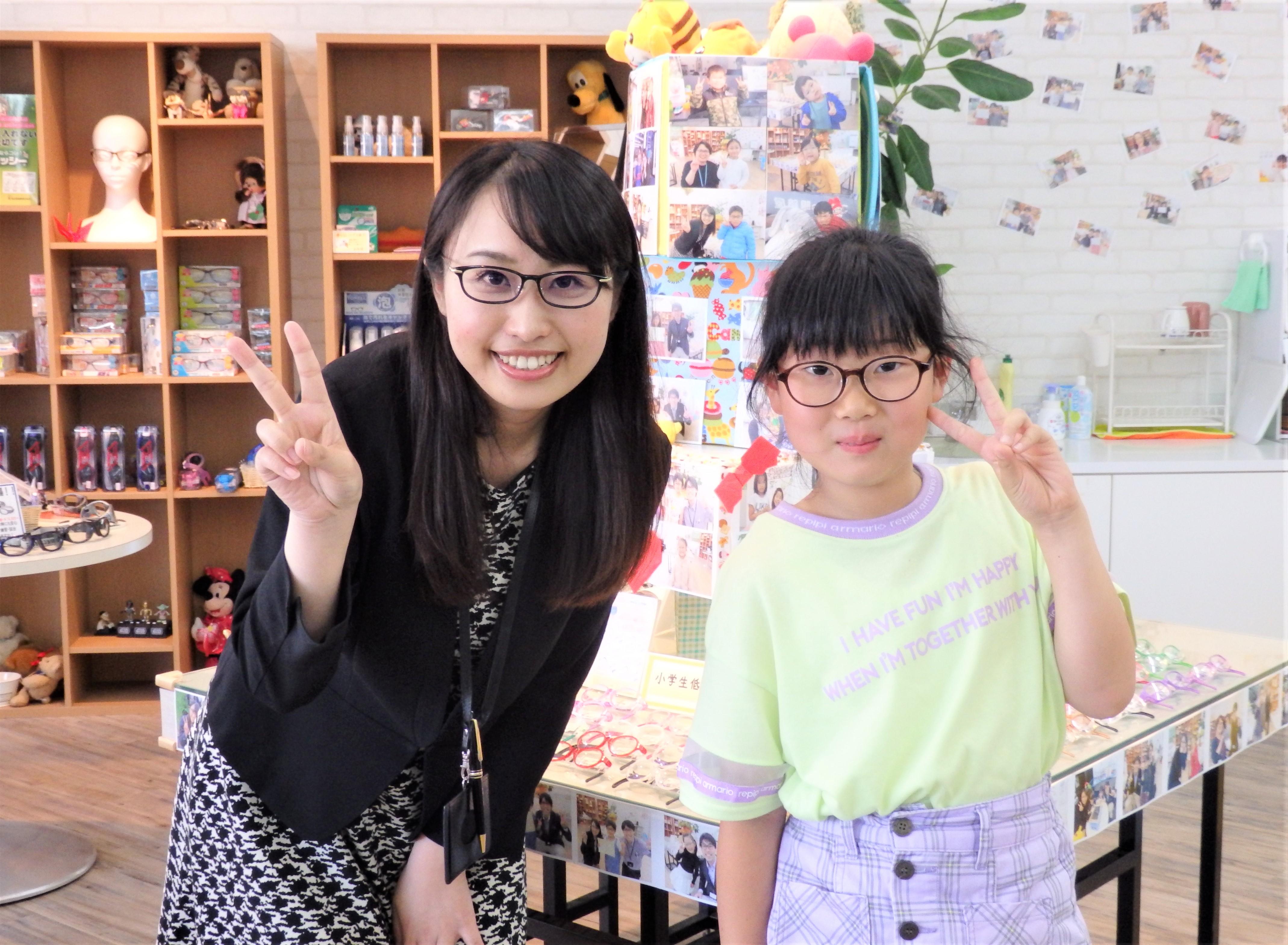 弱視治療用眼鏡 子供メガネ 子供眼鏡 こどもメガネ 東京都 江戸川区